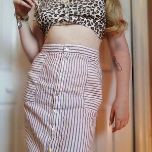 100% Linen Skirt